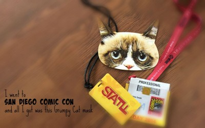 I went to San Diego Comic Con and all I got was this Grumpy Cat Mask