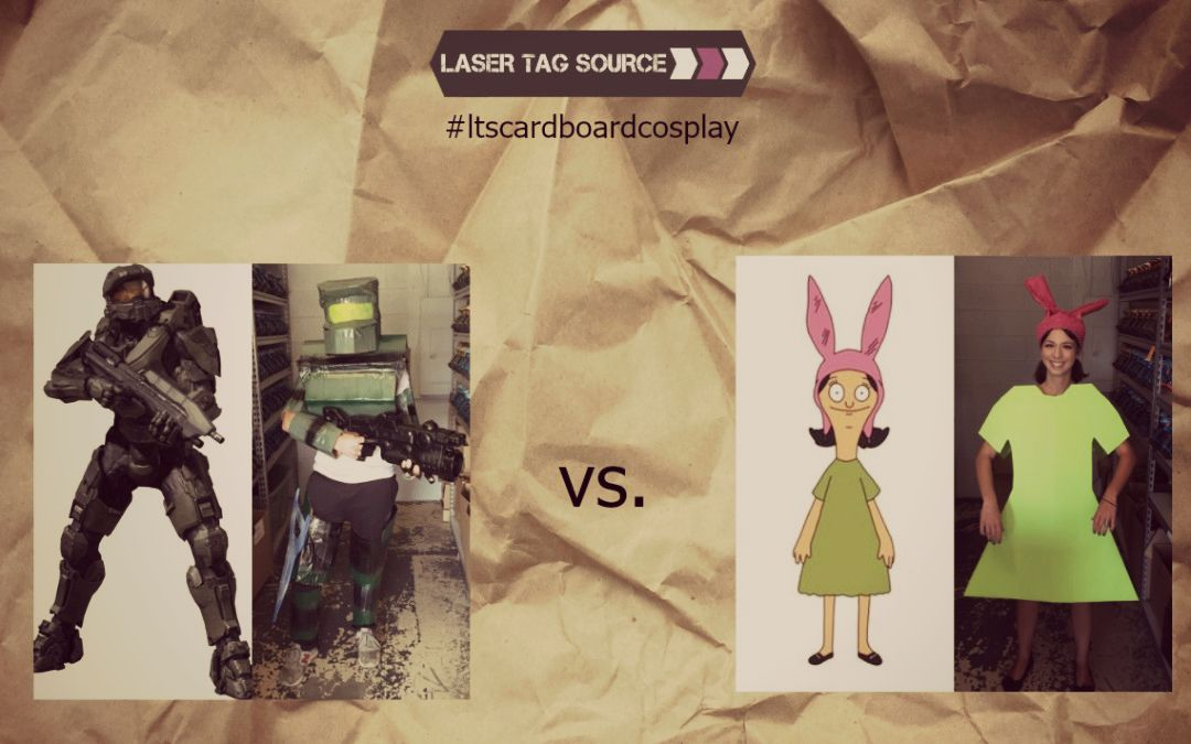 #ltscardboardcosplay interviews Master Chief and Louise Belcher