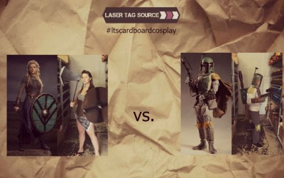 #ltscardboardcosplay interviews Boba Fett and Lagertha